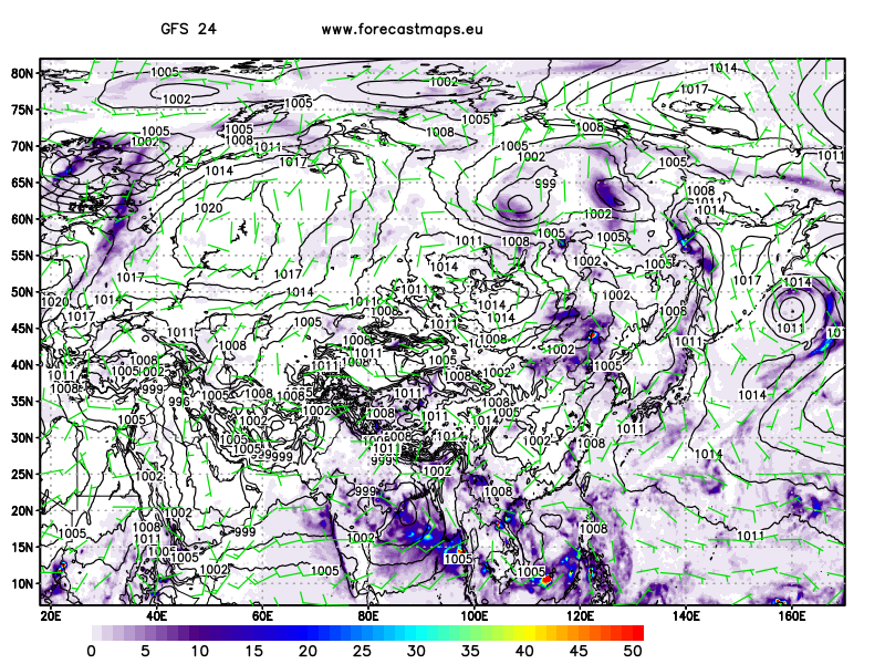 mappe Asia GFS
