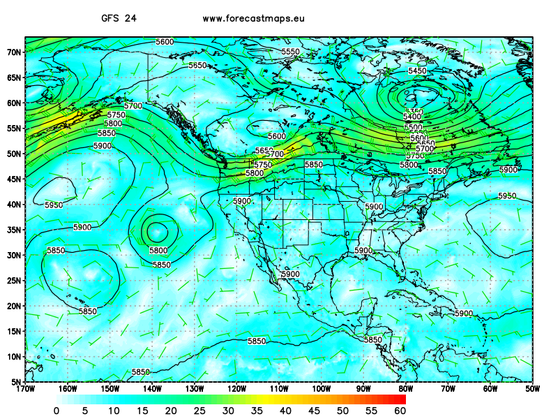 North America maps GFS